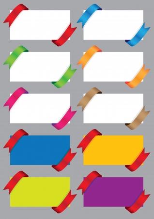 Collection de cartes-cadeaux avec des rubans color�s illustration Illustration