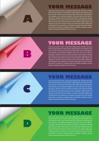 Layout design de plier le papier avec des couleurs et de la zone de texte illustration