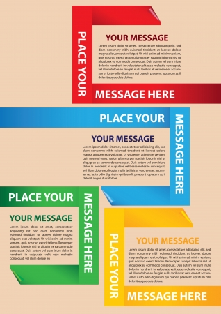 Paper folding Layout Design Template with area for texts 版權商用圖片 - 16667276