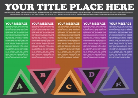 Colorful triangles layout with area for own copy  Vector illustration  Stock Vector - 16667312