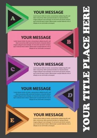 Colorful triangles layout with area for own copy  illustration  Stock Illustratie