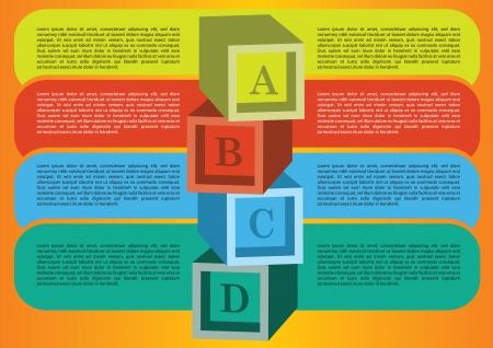 Diseño de diseño con zona propia para la ilustración vectorial de texto Foto de archivo - 16843291