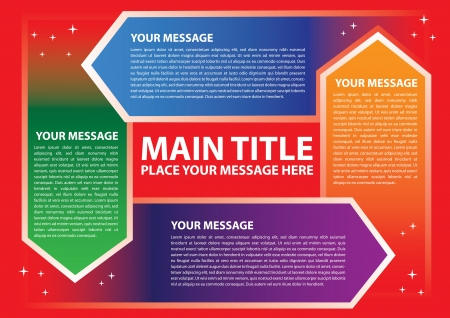 Layout design for progress circle with different colors  Vector illustration  Vector