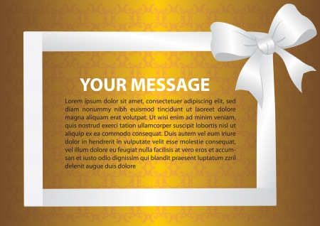 gold string: Frame form up by ribbon with area for text  Vector illustration  Illustration