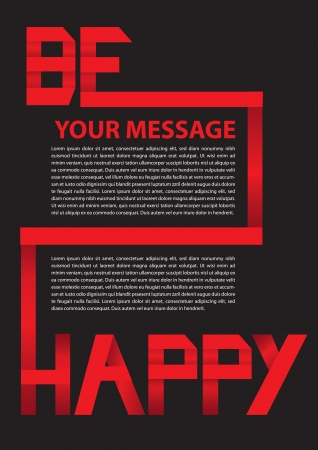 paper folding: Red Paper Folding text layout  Vector illustration  Illustration