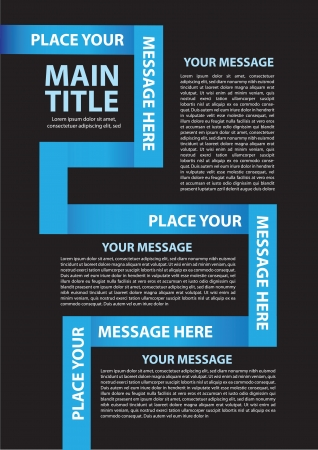 page layout: Paper folding Vector Layout Design Template with area for texts Illustration