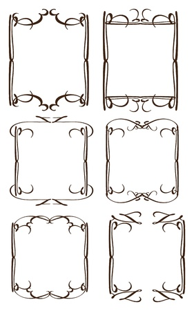 vintage decorative design borders and frames Stock Vector - 16938510