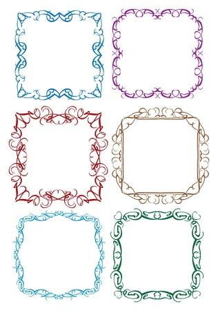 dashes: vintage decorative design borders and frames