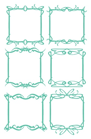 Vector vintage decorative design borders and frames  Vector