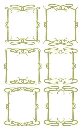 Vector vintage decorative design borders and frames Stock Vector - 17218717