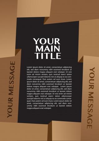 Mise en page de papier pliage fronti�re avec espace pour copie propre.