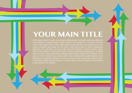 Layout design border with different colors arrows Stock Vector - 18209318
