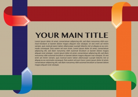 Layout design border with different colors arrows Stock Vector - 18209302