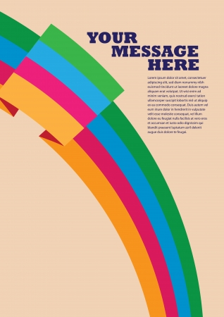 own: Layout design of four colorful rainbow banners with own text area  Vector illustration