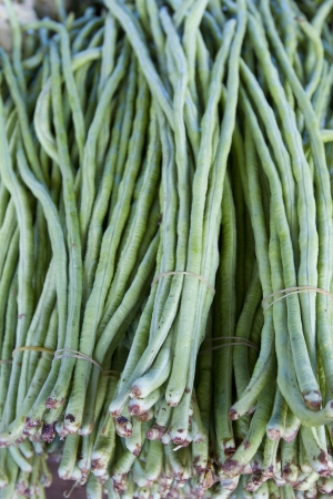 Close up shot of long bean selling in the market Stock Photo - 22785645