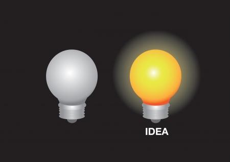 Minimal layout design of 2 light bulbs showcasing having a bright idea.