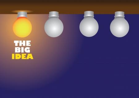 Minimal layout design of light bulbs showcasing having a bright idea.
