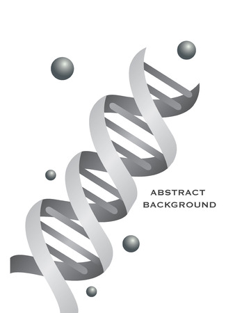 Abstract DNA background designin grey color. Vector illustration. Vector