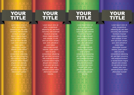 Infographics Banner in different colors  Vector illustration  Vector