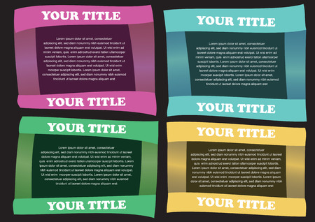 Colorful Paper folding Vector Layout Design Template with area for texts Vector