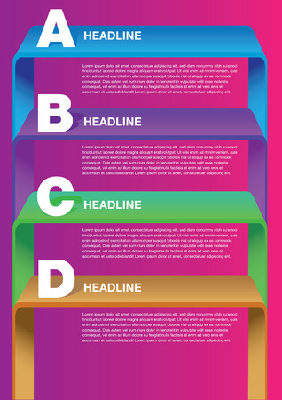 own: Layout Design with shelves and own area for text. Vector illustration. Illustration