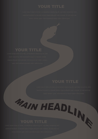 Black snake layout design Vector