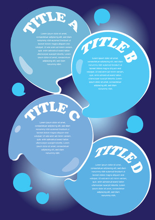 swill: Water droplets layout with area for text