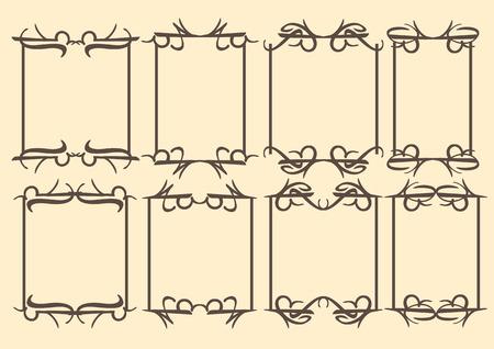 dashes: vintage decorative design borders and frames.