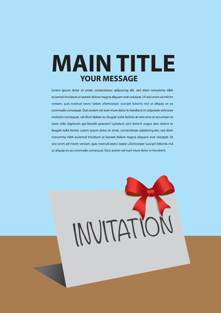 housewarming: Background layout template with Invitation card design and copy space. Vector illustration.