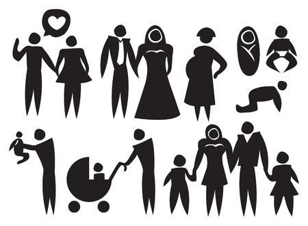 Icon of a couple family relationship. Vector illustration. Vector