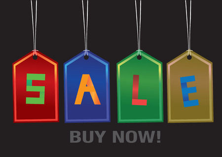 Colorful Sale labels with a sale message. Vector illustration. Vector