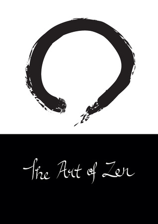 illustration of Enso, circle symbol for Zen. Illustration