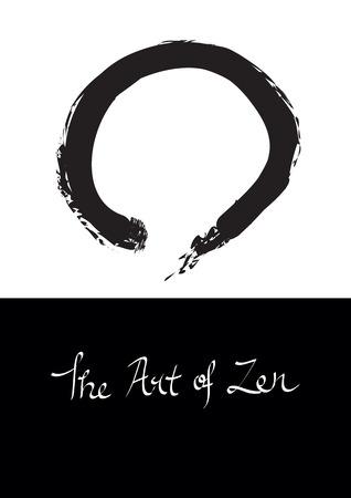 enlightenment:  illustration of Enso, circle symbol for Zen. Illustration