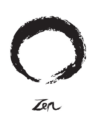 simplistic icon:  illustration of symbolic circle for Zen, Enso. Illustration
