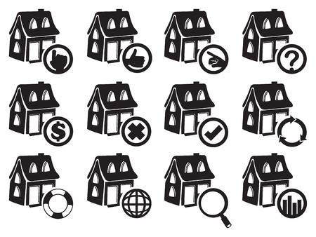 Vector illustration of house icon for real estate and property industry Vector