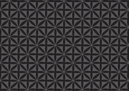 simple geometry: illustration of simple geometry black pattern on grey background for wallpaper design