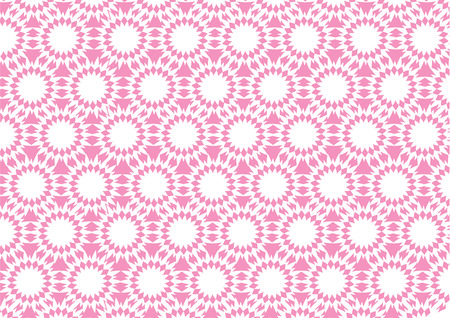 pointed: Pink pointed circular patterns for wallpaper. Illustration