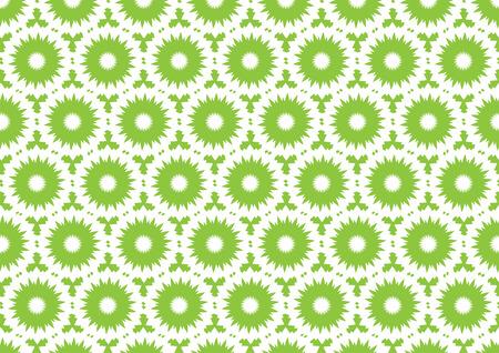 puntig: illustratie van groene wees ronde naadloze patroon voor website wallpaper