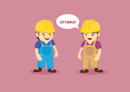 subcontractors: Building and Construction Workers Cartoon Characters