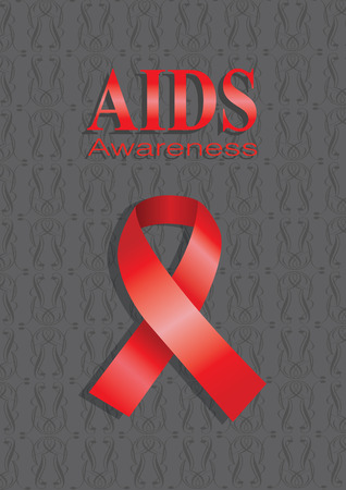 hiv awareness: Vector illustration of a pink ribbon on pink background. Layout design with copy space for campaign advertisement and poster.