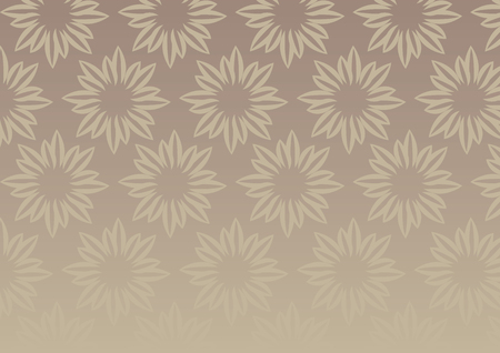 fading: Vector background with repeat floral design in brown with fading effect at bottom.