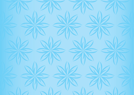 soothing: Seamless vector background design of repeated floral pattern in soothing pastel blue with fading effect at the sides Illustration