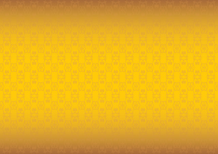 yellow art: Background with swirls and spiral repeat pattern design against in golden yellow gradient. Illustration