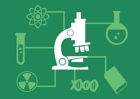 science scientific: icon illustration of science laboratory equipment for scientific research infographic.