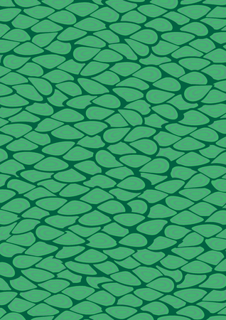 Green cells inspired patterns abstract vector background design. Illustration