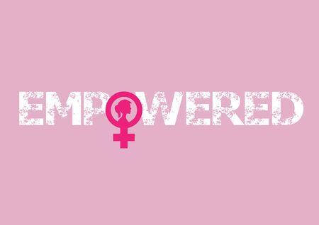 Feminism. Female international movement, Flat Isolated Vector illustration.