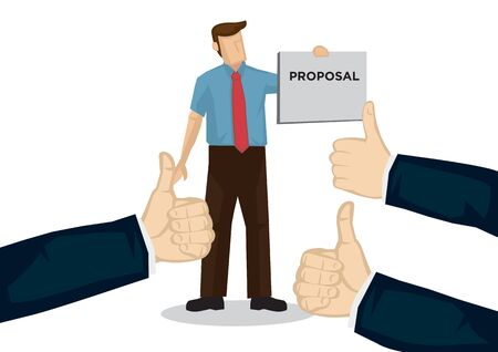 Businessman getting praises for his proposal. Concept of teamwork, recognition or appreciation.