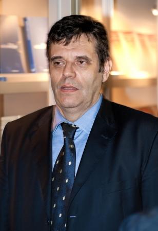 Vojislav Kostunica  Serbian  Vojislav Ko�tunica , Serbian politician, president of the Democratic Party of Serbia  DSS   Former President of Yugoslavia  2000-2003  and Prime Minister of Serbia  2004-2008   Stock Photo - 21794893