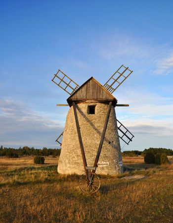 Old windmill in Sweden