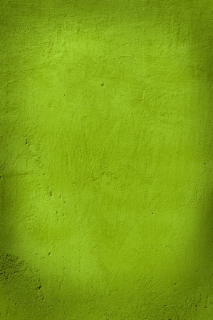 Closeup of a rough wall in green. Stock Photo
